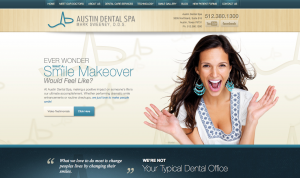 cosmetic dentist in Austin, porcelain dental veneers, Austin cosmetic dentistry, dental website design