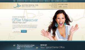 cosmetic dentist in Austin, porcelain dental veneers, Austin cosmetic dentistry, dental website design