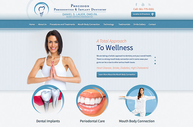 palm beach periodontist,implant dentistry,palm beach dentistry,dental website design,dr daniel lauer