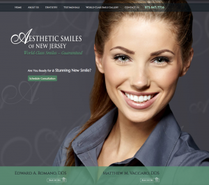 cosmetic dentistry, dental website design, porcelain veneers, parallax scrolling