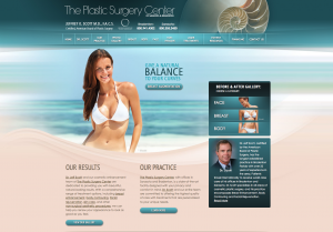 medical website design, breast augmentation, plastic surgeon in sarasota, dr jeffrey scott