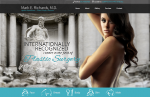 plastic surgeon, facelift, breast augmentation, plastic surgery website design, parallax scrolling, Dr. Mark Richards