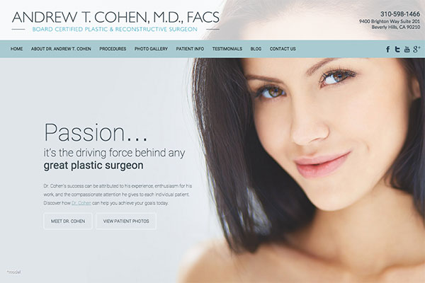 Beverly Hills Plastic Surgeon Launches New Responsive Website