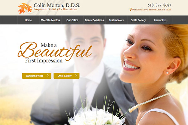 Dental Website Design Saratoga Springs Ny Colin Morton Dds