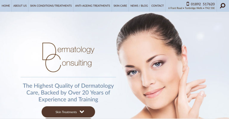 Royal Tunbridge Wells Dermatologist Debuts Responsive Website