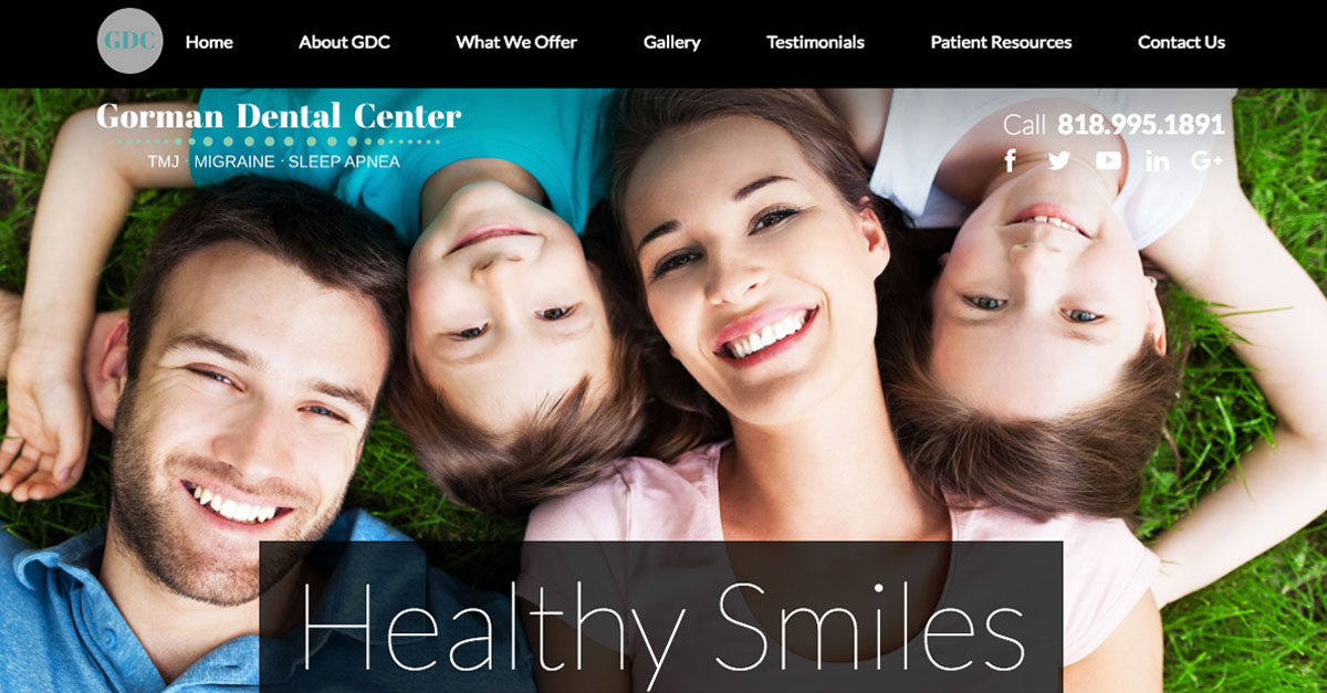 Dr. Martin Gorman announces a new website for his Encino dental practice.
