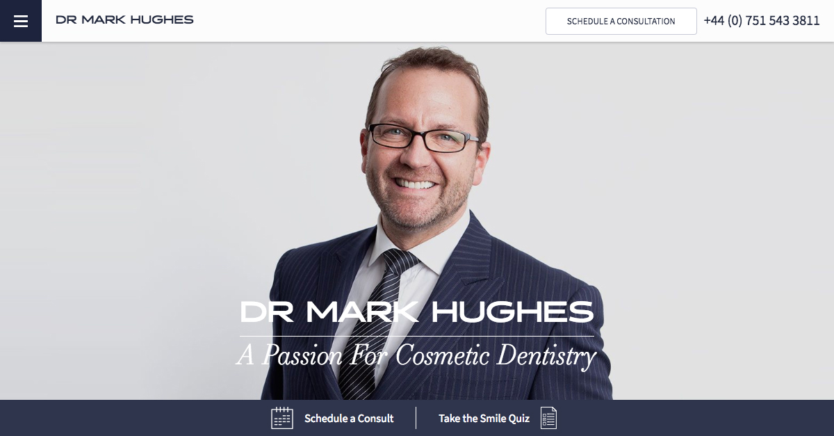 Dr Mark Hughes Unveils New Website Design