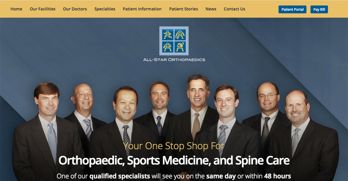All-Star Orthopaedics surgeons discuss their website update