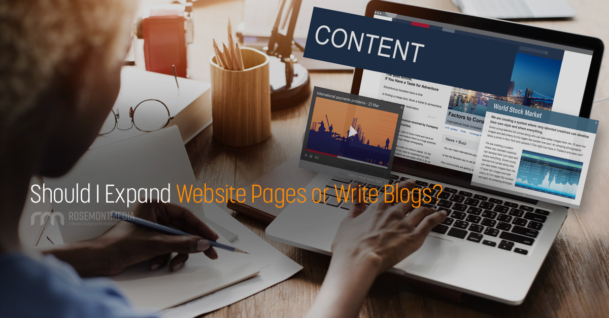 Is it better to add content to website pages or write blogs?