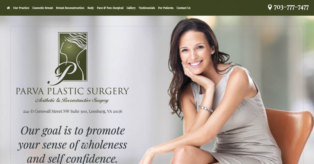 Dr. Parva announces new responsive website design