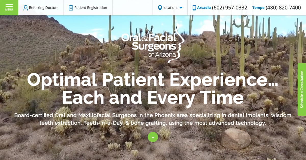 The doctors at Oral & Facial Surgeons of Arizona are unveiling a state-of-the-art new website.