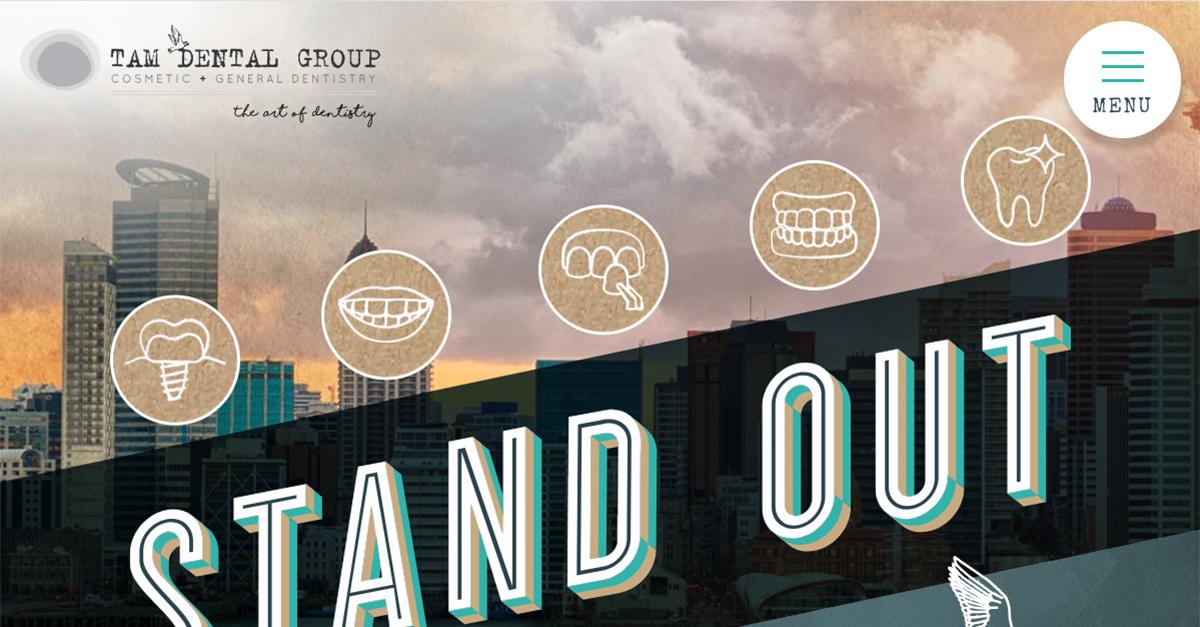 Tam Dental Group in Auckland Unveils New Website Design