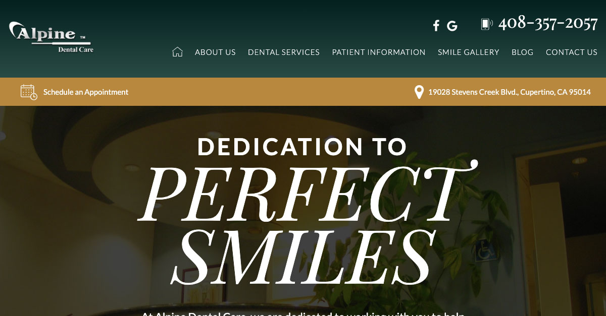 Dentists of Alpine Dental Care in Cupertino Reveal New Responsive Website Design
