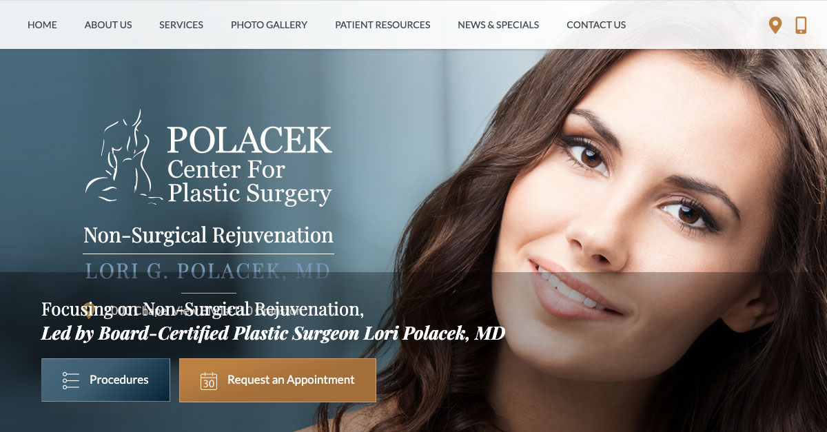 Polacek Center for Plastic Surgery Reveals New Website Design