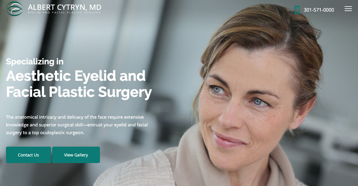 Bethesda oculoplastic surgeon Dr. Albert Cytryn recently teamed with Rosemont Media to transform his website into a user-friendly oculoplastic surgery resource.