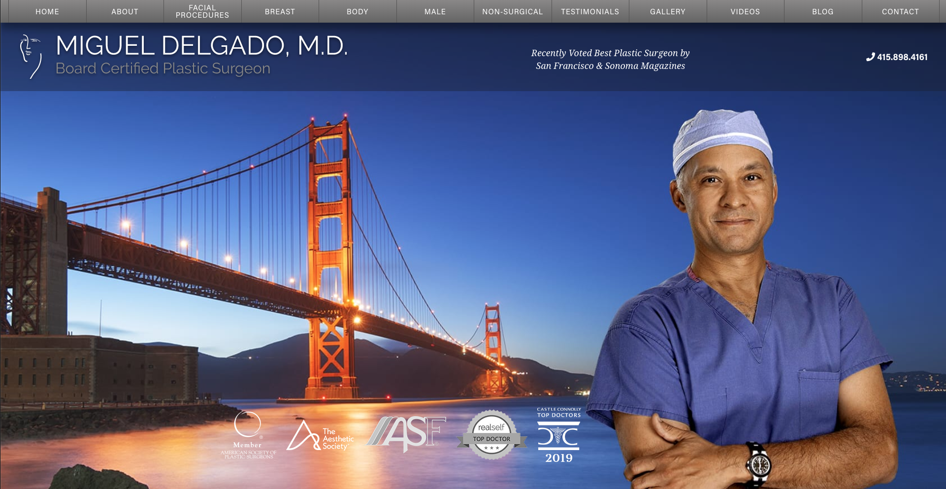 Dr. Miguel Delgado launches a new website for his plastic surgery practice with the help of Rosemont Media
