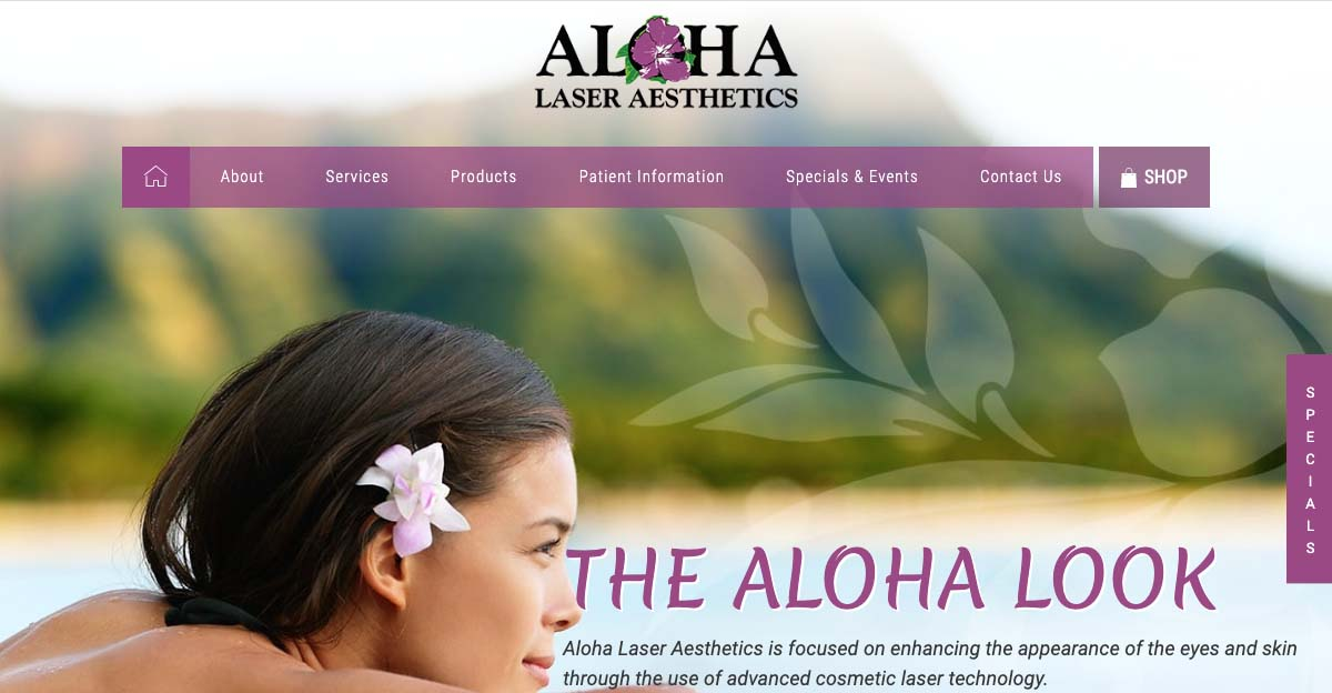 Dr. Alan Faulkner of Aloha Laser Aesthetics in Honolulu discusses the medical spa's new state-of-the-art website