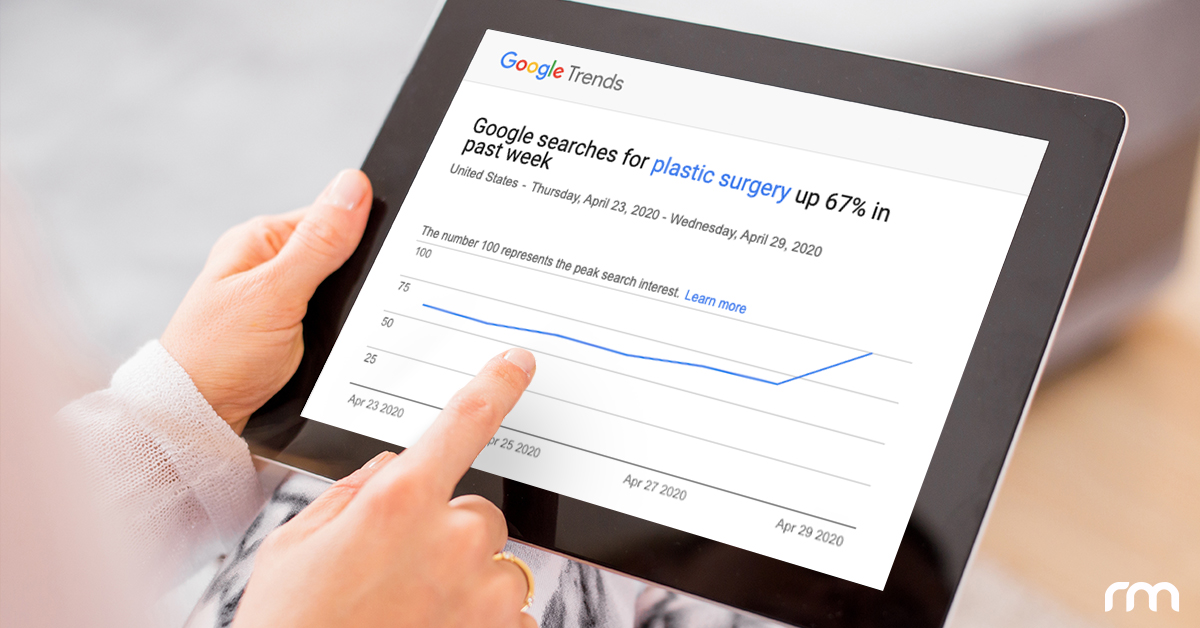 Plastic surgery searches on Google have increased 67%