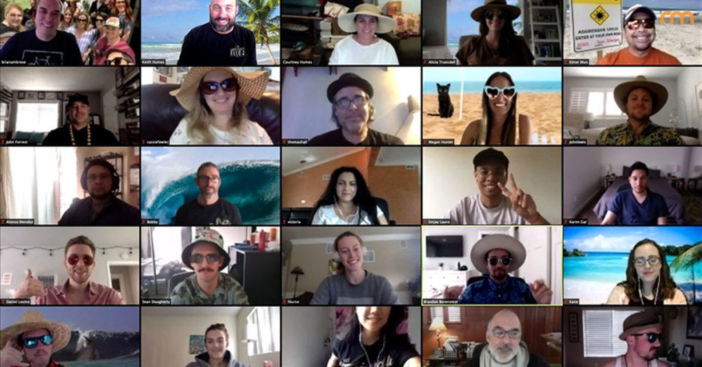 Rosemont Media stays connected during the quarantine with a virtual beach party on Zoom