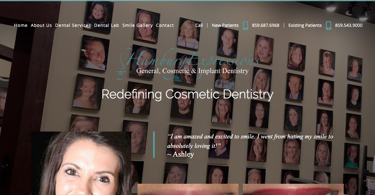 Lexington cosmetic dentist works with Rosemont Media to fully revamp her practice website.