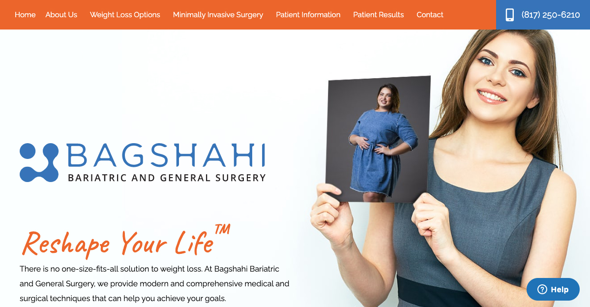 Dr. Hossein Bagshahi recently updated the website for his bariatric surgery practice in Fort Worth, TX