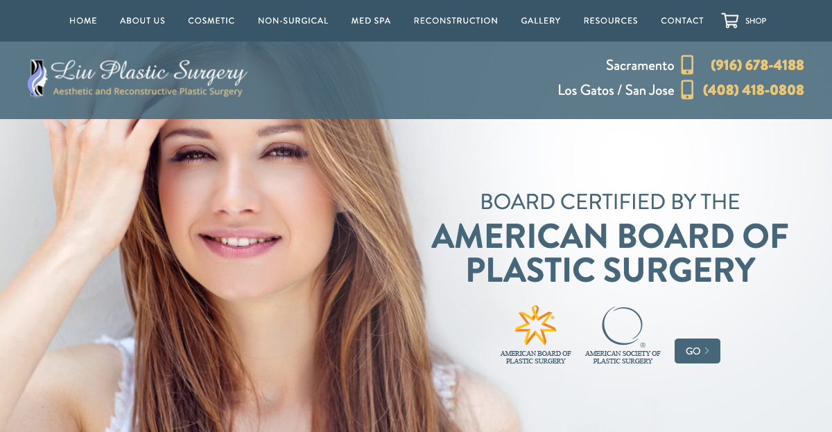 Rosemont Media recently worked with Liu Plastic Surgery to create a responsive website for their practice's Sacramento location