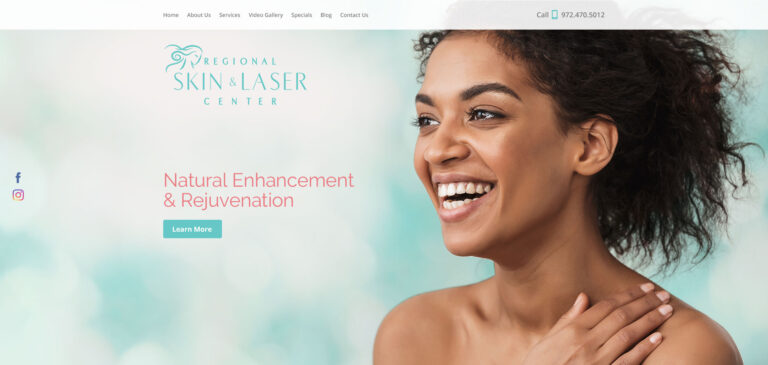 Rosemont Media created a new custom medical website for Regional Skin & Laser Center in Richardson and Sherman, TX.
