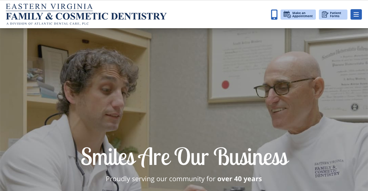 Rosemont Media recently collaborated with Eastern Virginia Family & Cosmetic Dentistry to create a new responsive dental website design.