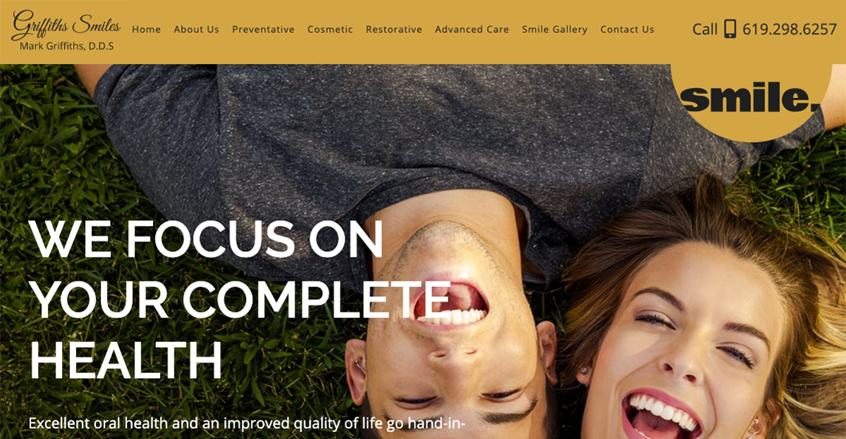 Rosemont Media and Mark Griffiths, DDS worked together to create a new, responsive website for his San Diego dental practice.