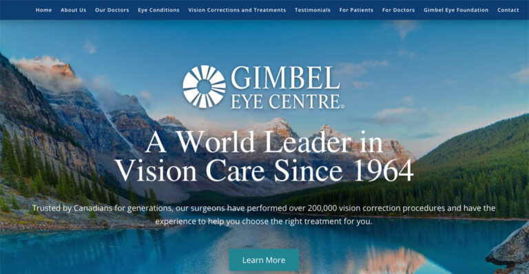 The eye surgeons at Gimbel Eye Centre in Calgary recently worked with Rosemont Media to create a new responsive website for their practice.