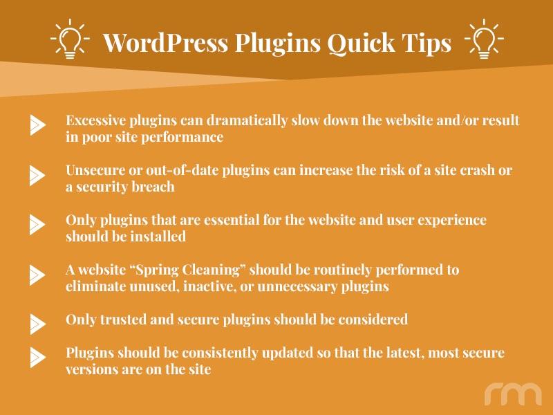 WordPress plugins Quick Tips from Rosemont Media