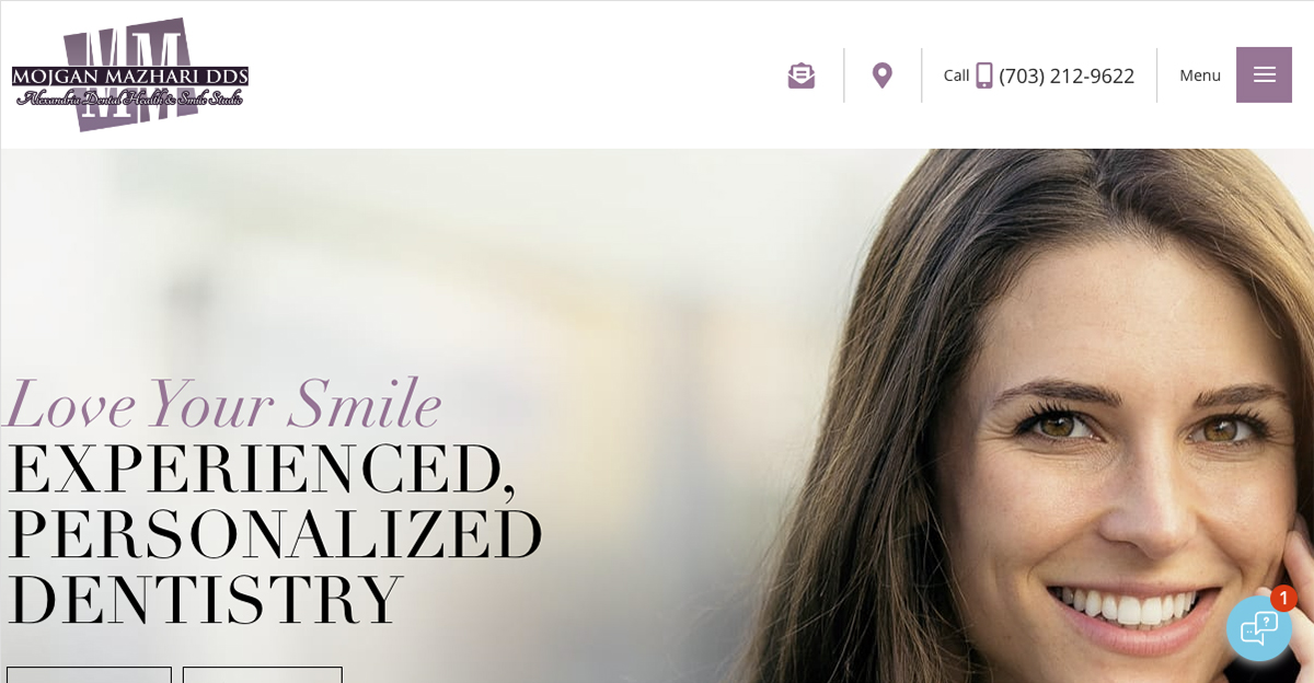 Rosemont Media created a new responsive website for cosmetic dentist Dr. Mojgan Mazhari