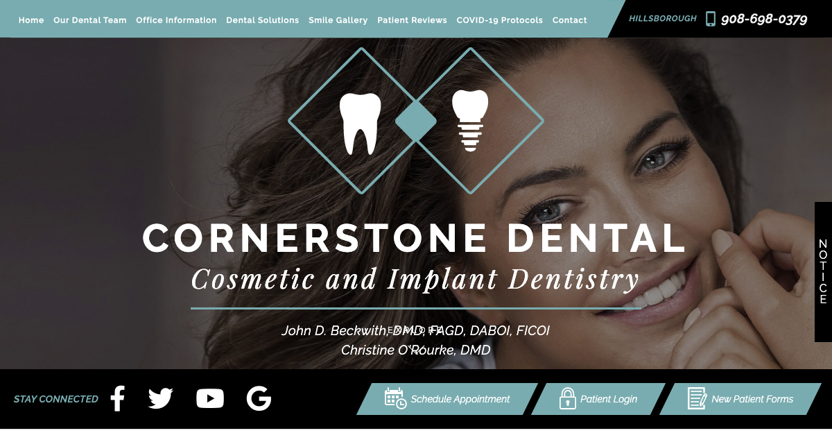 Rosemont Media created a new responsive website for cosmetic dentist Dr. John D. Beckwith