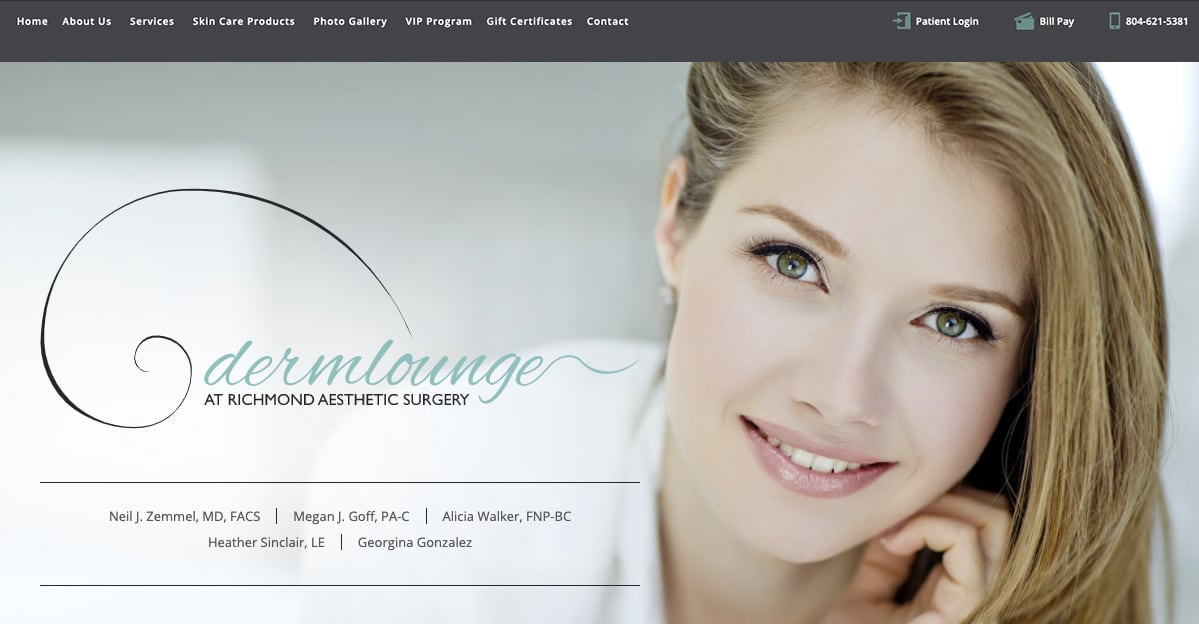 Rosemont Media created a new responsive website for board-certified plastic surgeon Dr. Neil Zemmel's med spa