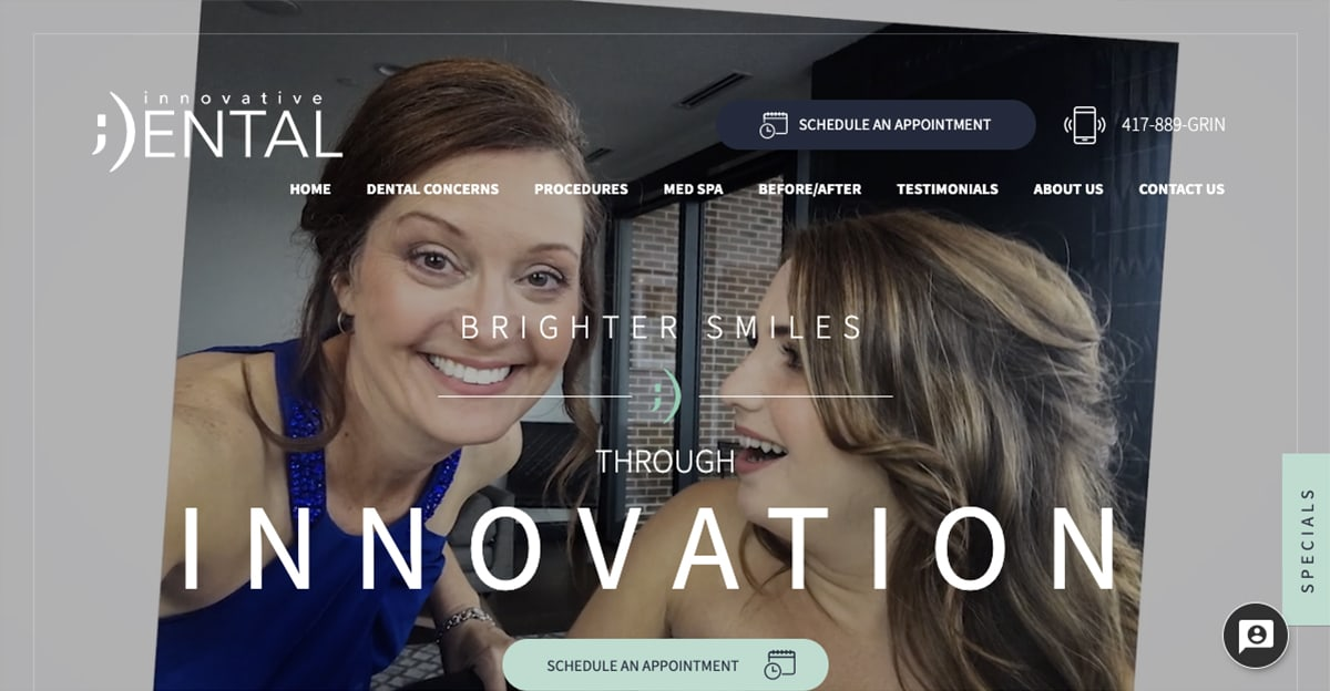 Rosemont Media created a new responsive website for cosmetic dentist Dr. Grant Olson in Springfield, MO