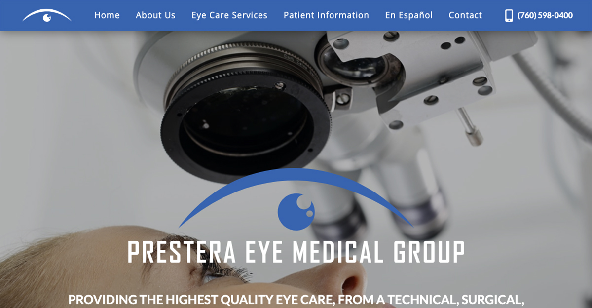 Rosemont Media created a new responsive website for San Marcos eye surgeons Dr. Tory Prestera and Dr. Kevin Garff