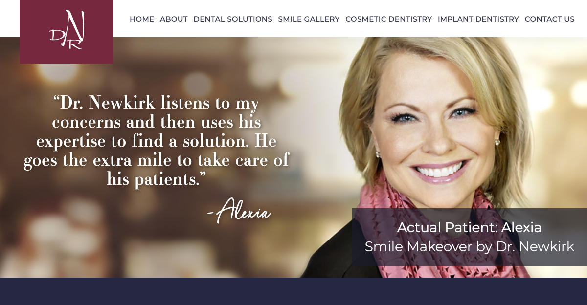 Rosemont Media created a new responsive website for cosmetic dentist Dr. David Newkirk in Naperville, IL