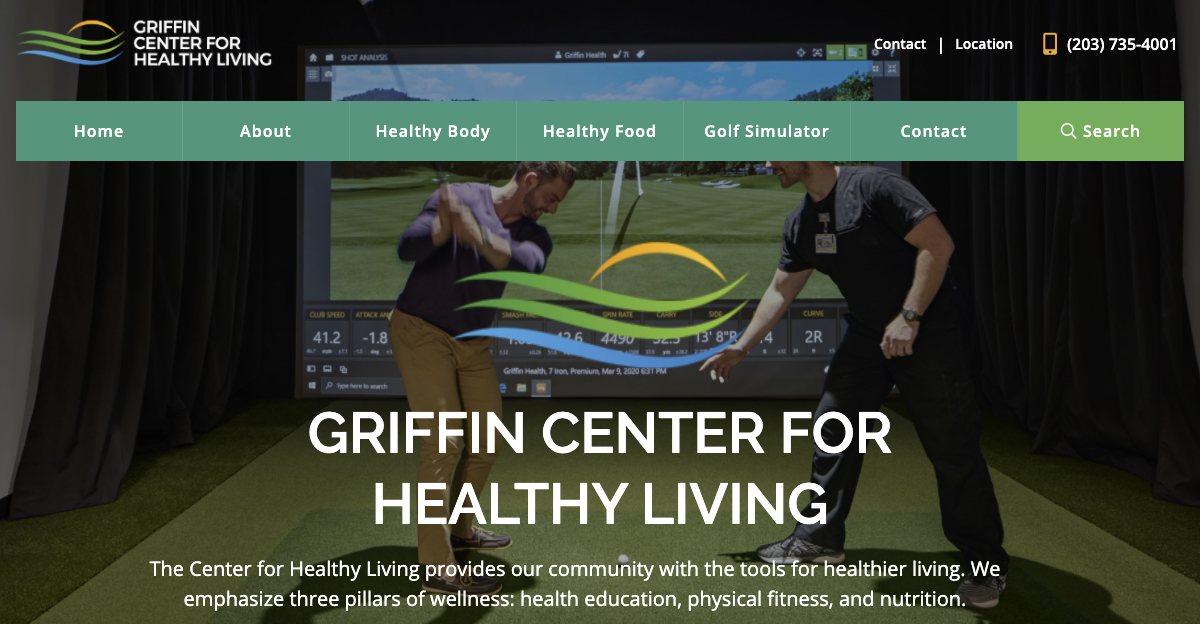 Rosemont Media created a new responsive website for Griffin Hospital's wellness center in Oxford, CT