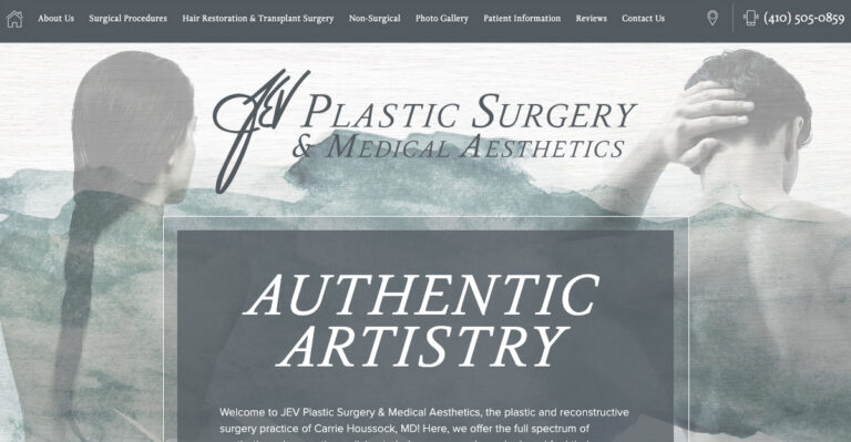 Rosemont Media created a new responsive website for plastic surgeon Dr. Carrie Houssock