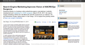 lasik, refractive, cataract, surgery, surgeons, search, engine, marketing, ASCRS, 2011