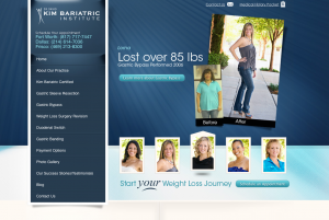 weight loss surgery in dallas, lap band, dallas bariatric surgeon, revision bariatric surgery, medical website design