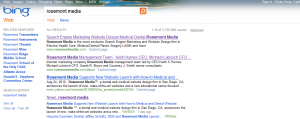 Bing Results for Rosemont Media