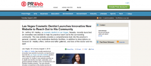 Dr. Hadley Cosmetic Dentist Press Release