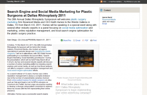 plastic, surgery, marketing, website, design, dallas, rhinoplasty, 2011